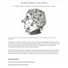 15 dicembre, Londra: convegno su virtù e vizi d'Italia