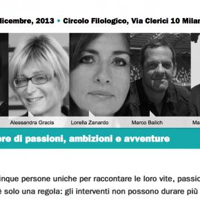 11 dicembre, Milano, 5x15 al CIrcolo Filologico